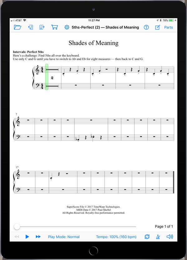 Creative Musicianship Through Improvisation Level 1  Super Score Sample