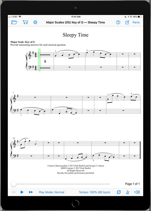 Creative Musicianship Through Improvisation Level 2  Super Score Sample