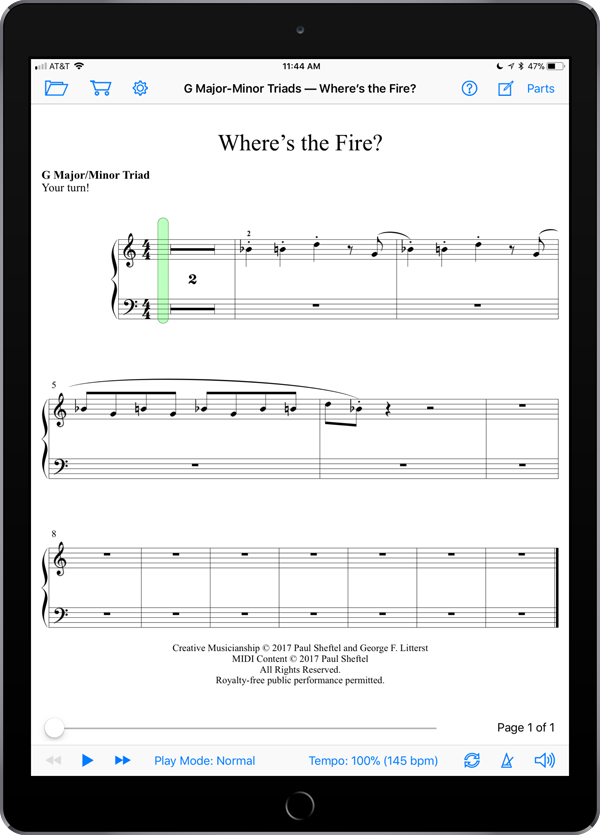 Creative Musicianship Through Improvisation Level 3  Super Score Sample