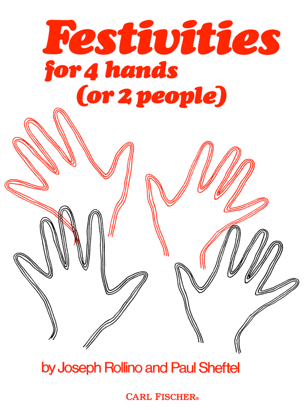 Festivities for 4 Hands by Joseph Rollino & Paul Sheftel-Cover