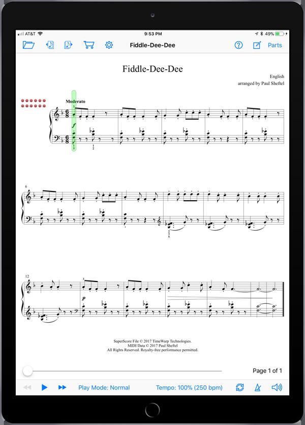 Folk Songs from Planet Earth Level 6  Super Score Sample