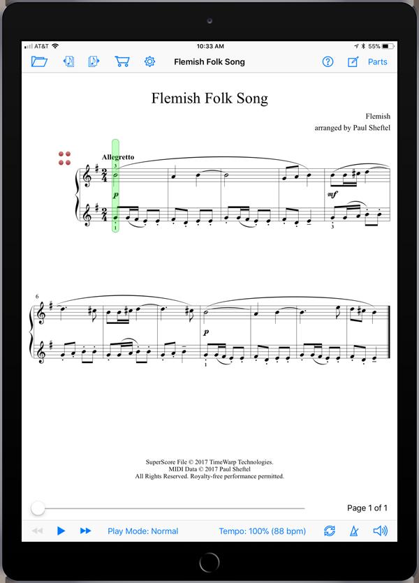 Folk Songs from Planet Earth Level 7  Super Score Sample