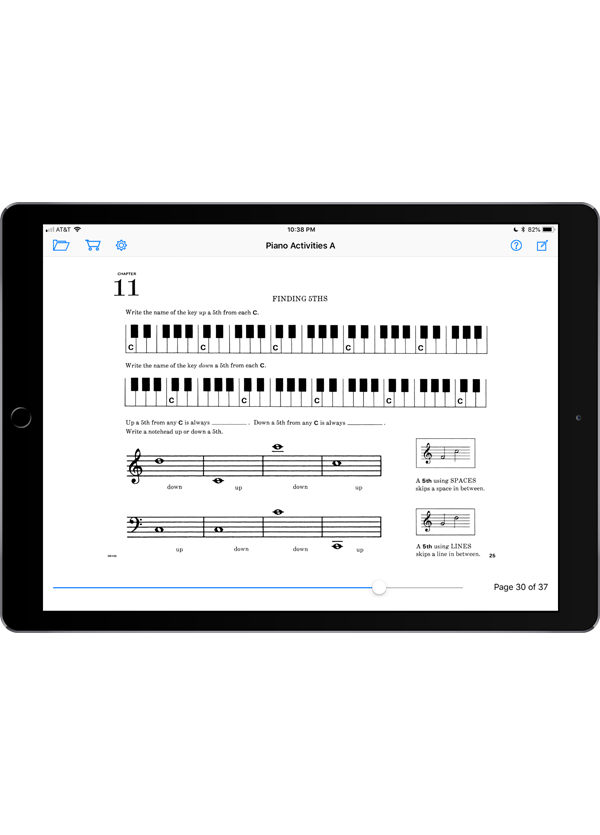 Music Pathways: Piano Activities – Level A  Super Score Sample