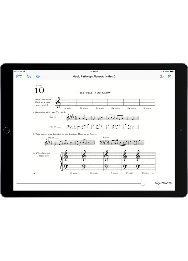 Music Pathways: Piano Activities – Level D  Super Score Sample