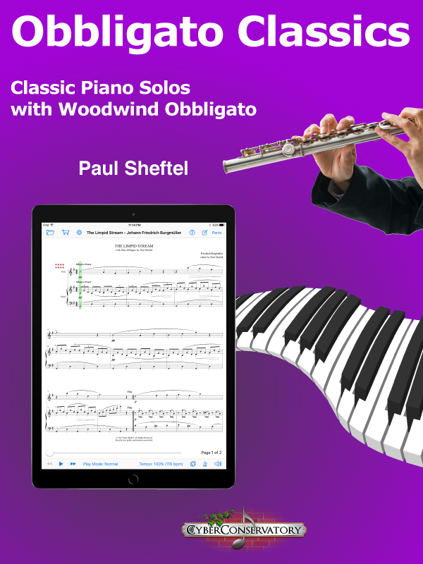 Obbligato Classics for Piano and Woodwind by Paul Sheftel  Cover Art