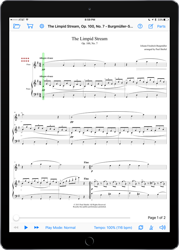Obbligato Classics for Piano and Woodwind by Paul Sheftel  Super Score Sample
