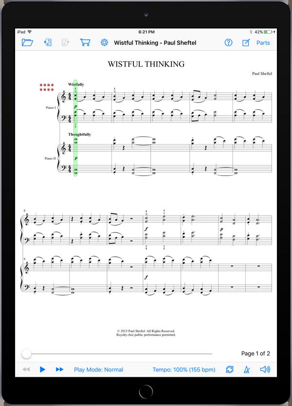 One Plus One by Paul Sheftel  Super Score Sample