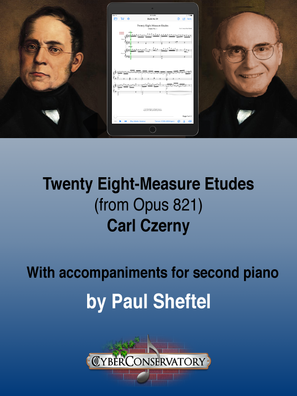 Twenty Eight-Measure Etudes by Carl Czerny-Cover